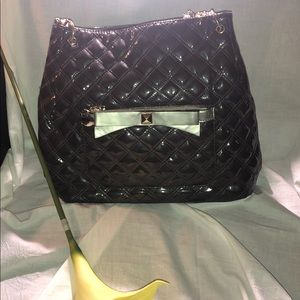 Grey Patten Leather w/ Gold Bow